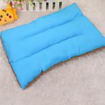 Собака Кровати Животные Коврики и подушки Однотонный Сохраняет тепло Мягкий Эластичный Оранжевый Розовый Зеленый Синий