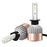 2pcs h1 csp ha condotto la luce bianca della lampadina dell'automobile dell'automobile 6500k 7200lm che guida l'automobile principale