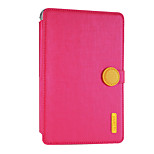 For Apple iPad mini4 Case Cover Card Holder Shockproof with Stand Auto Sleep / Wake Flip Magnetic Full Body Case Solid Color Hard PU Leather