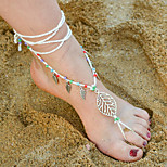 Women's Anklet/Bracelet Alloy Bohemian Leaf Women's Jewelry For Daily Casual 1pc