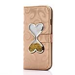 Para iphone 7 7 mais capa capa carteira carteira com suporte coração deslocamento funil de areia flip pu couro caso para iphone 6 6 mais 5