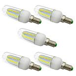 5W Bombillas LED de Mazorca T 80 SMD 5730 1000 lm Blanco Cálido Blanco V 5 piezas