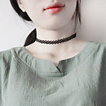 Women's Choker Necklaces Jewelry Single Strand Lace Alloy Basic Unique Design Classic Jewelry ForBirthday Daily Casual Outdoor Office &