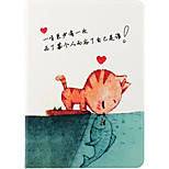 For Apple iPad (2017) iPad Air 2 iPad Air Case Cover with Stand Flip Pattern Full Body Case Cat Animal Hard PU Leather