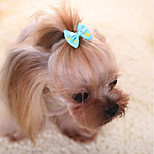 Hair Accessories Dog Clothes Cute Casual/Daily Fashion Bowknot Yellow Fuchsia Ruby Blue Blushing Pink