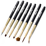 7pcs/Set Sweep Chalk Pull String Stroke Pen Nail Brushes Nail Art Tool