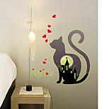 Kitten Luminous Cat Wall Stickers Home Decor Bedroom Decal Diy Art Mural Removable Fluorescence Wall Sticker
