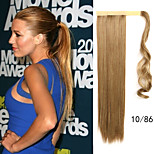 Human Hair Extensions Flaxen Length 60CM Factory Direct Sale Bind Type Straight Horsetail Hair Ponytail