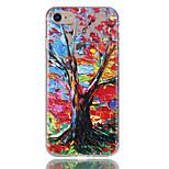 Для яблока iphone 7 7 плюс 6s 6 плюс чехол чехол цвет дерево шаблон рельеф лак tpu материал не затухает корпус телефона