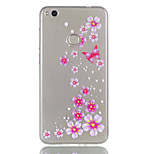 Per huawei p8 lite (2017) p9 lite telefono caso tpu materiale farfalla fiori modello rilievo telefono caso p8 lite