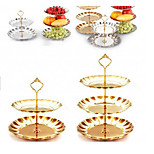 3Piece/Set Little Crown Multi-layer Cake Tray Decorating Tool Round For Cake Aluminum Metal Birthday Holiday