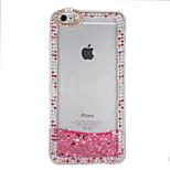 Pour strass fluide liquide diy étui couverture arrière étui brillant hard pc pour apple iphone 7 7 plus 6s 6 plus se 5s 5