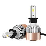 Kits de la conversión de la linterna de 2pcs h3 7200lm con la viruta del csp de bridgelux de los bulbos de la linterna