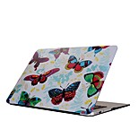 For MacBook Air Pro 11.6 13.3 15.4 inch Retain Case Cover Cartoon Drawing Painting Decorate Protector for New MacBook Butterfly Pattern