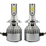 2pcs 36W Led Headlight COB C6 Car Headlight Bulbs H1 IP65 6000K White Auto Lamp DC9-36V