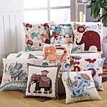 9 Style Baroque Vintage Elephant Pillow Covers Creative Pillow Case Cotton/Linen