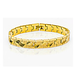 24K Gold Plated for Man Women Fashion Chain Bracelets Punk Bike Link Chain Jewelry