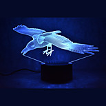Christmas Parrot Touch Dimming 3D LED Night Light 7Colorful Decoration Atmosphere Lamp Novelty Lighting Christmas Light