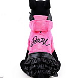 Dog Dress Dog Clothes Cute Princess Fuchsia Yellow