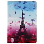 For Case Cover with Stand Flip Pattern Smart Touch Full Body Case Eiffel Tower Flower Hard PU Leather for iPad 2017 iPad Pro 9.7 air2 air 2.3.4