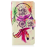 For Huawei P8 Lite (2017) P10 Case Cover Wind Chimes Pattern Painted PU Skin Material Card Stent Wallet Phone Case P10 Plus P10 Lite