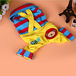 Dog Harness Dog Clothes Cute Casual/Daily Cartoon Yellow Fuchsia Blue