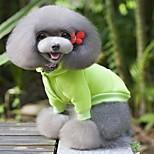 Собака Плащи Толстовка Одежда для собак На каждый день Спорт Мода Сплошной цвет Желтый Красный Зеленый Синий Розовый