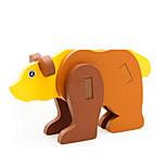 Rompecabezas Puzzles 3D Bloques de construcción Juguetes de bricolaje Animal Madera Modelismo y Construcción