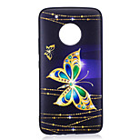 For Moto G5 Plus G5  Case Cover Butterfly Pattern Painted Embossed Feel TPU Soft Case Phone Case