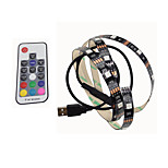 BRELONG  USB 5050 RGB Strip Lights 5V TV Background 1M 30 Leds with 17Key Controller