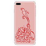 Case For  iPhone 7 7 Plus Flower Pattern TPU Soft Back Cover  For iPhone 6 Plus 6s Plus iPhone 5 SE 5s 5C 4s