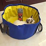 Собака Кровати Животные Коврики и подушки Однотонный Водонепроницаемость Компактность Складной Влажная чистка Серый Синий