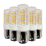 YWXLight® 5Pcs BA15D 5W 52LED 2835 SMD 400-500 Lm Cool White Warm White  LED Lamp AC 220V / AC 110V