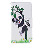 For Huawei P10 Lite P8 Lite (2017) Phone Case PU Leather Material Panda Bamboo Pattern Painted P10 P9 Lite P9 Y5 II Honor 6X