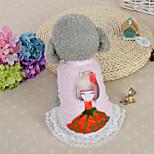 Собака Платья Одежда для собак На каждый день Мода Принцесса Синий Розовый