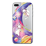 For iPhone 7 Plus 7 Case Cover Transparent Pattern Back Cover Case Cat Cartoon Soft TPU for iPhone 6s Plus 6s 6 Plus 6 5s 5 SE