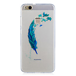 For Huawei P10 Lite P10 Case Cover Translucent Pattern Back Cover Case Feathers Soft TPU