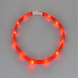 Collar LED Lights Rechargeable Strobe/Flashing Solid Silicone
