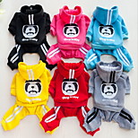Other Sweatshirt Clothes/Jumpsuit Dog Clothes Cute Casual/Daily Animal Blushing Pink Pool Ruby Yellow Gray