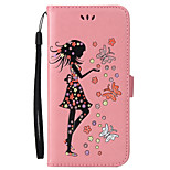 For iPhone 7 Plus 7 Case Cover Card Holder Wallet with Stand Flip Embossed Full Body Case Sexy Lady Butterfly Hard PU Leather for 6 plus 6s SE 5S 5