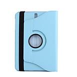 스탠드가있는 케이스 커버 360 회 전신 케이스 samsung tab s3 9.7 t825 / t820 용 단색 하드 PU 가죽