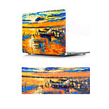 For MacBook Air 11 13 Pro Retina 13 15 Macbook 12 Case Cover PVC Material Oil Painting Sailing with US Silicone Keyboard Protector