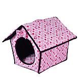 Собака Кровати Животные Коврики и подушки Сердца Теплый Мягкий Пурпурный Синий Розовый