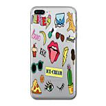 Для iphone 7 плюс 7 чехол для крышки прозрачный узор задняя крышка чехол пищевое слово / фраза soft tpu для iphone 6s плюс 6s 6 плюс 6 5s