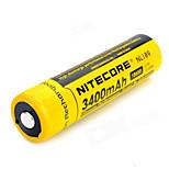 1pcs Nitecore 3.7v 12.6wh batteria ricaricabile Li-ione 18650 3400mAh nl1834