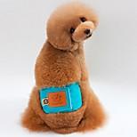 Собака Брюки Одежда для собак На каждый день Сплошной цвет Оранжевый Зеленый Синий Розовый