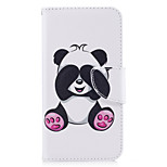 For Huawei P10 Lite P8 Lite (2017) Phone Case PU Leather Material Giant Panda Pattern Painted P10 P9 Lite P9 Y5 II Honor 6X