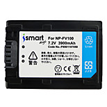 Ismartdigi FV100 7.2V 3900mAh Camera Battery for Sony HDR-CX610E CX450 CX680