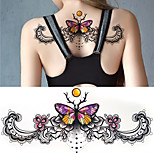 1Pc 3D DIY Big Chest Butterfly Tattoo Stickers Colorful Hot Flashes Waterproof Tatoo Body Art Temporary Tattoo Sticker