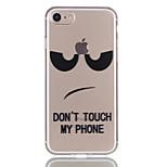 Pour apple iphone 7 7 plus 6s 6 plus 5s 5 couvercle de boîtier yeux noirs motif relief vernis matériau tpu ne s'efface pas boîtier de